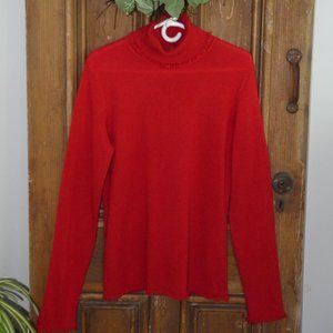 Magaschoni 100%Cashmere Fringed Turtleneck Sweater